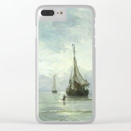 Vintage Ship Painting Clear iPhone Case