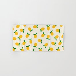 Lemon_Yellow_Pattern_01 Hand & Bath Towel