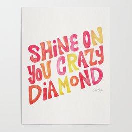 Shine On Your Crazy Diamond – Pink & Melon Palette Poster