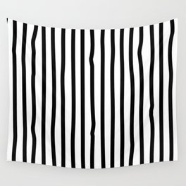 Black and white drawing stripes - striped pattern Wall Tapestry