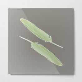 Feathers by Abi Roe Metal Print