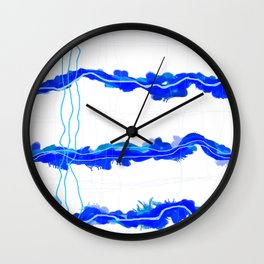 Fluffy lines twisting and turning no. 22 Wall Clock