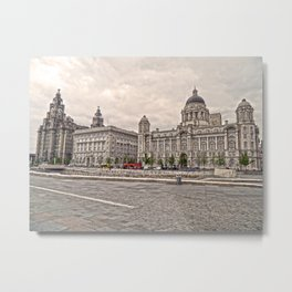 3 Graces of Liverpool HDR Metal Print