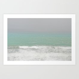 Foggy Sea Art Print