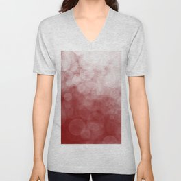 Cranberry Spotted Unisex V-Neck