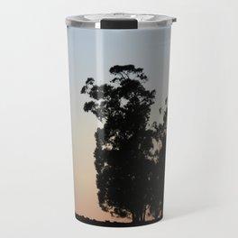 Eucalyptus trees at sunset Travel Mug
