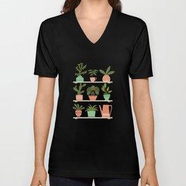 Plant Shelves Unisex V-Neck