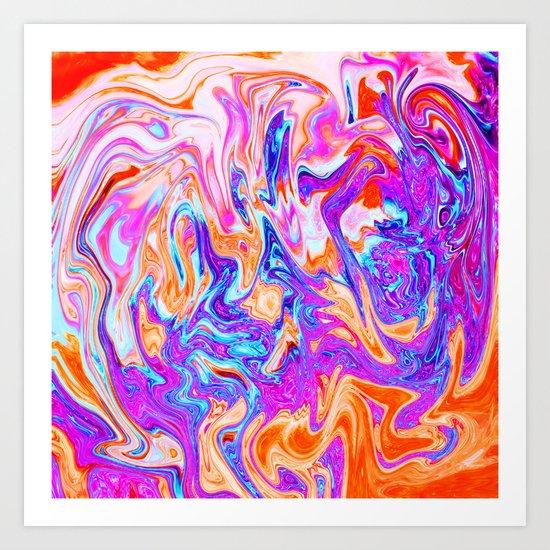 Marbled I Art Print