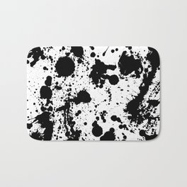 Ink spattered all over - Pattern #society6 #lifestyle Bath Mat