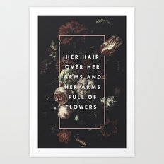 Arms Full Of Flowers Art Print