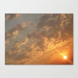 Sun in a corner Canvas Print