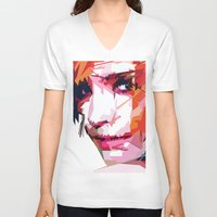 emma watson V-neck T-shirts featuring Emma Watson Vector by Raditya Giga