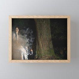 Smoke Monster Framed Mini Art Print