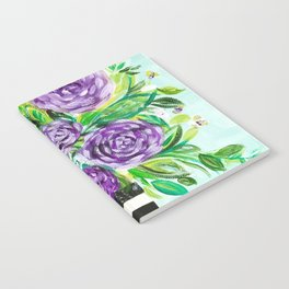 Purple Bouquet Delights Notebook