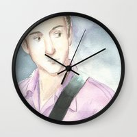alex turner Wall Clocks featuring Alex Turner by SirScm