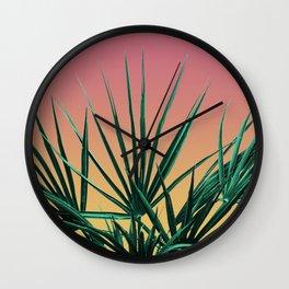 Vaporwave Palm Life - Miami Sunset Wall Clock