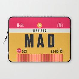 Luggage Tag A - MAD Madrid Barajas Spain Laptop Sleeve