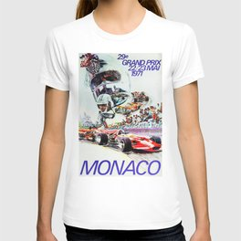 Gran Prix de Monaco, 1971, original vintage poster T-shirt