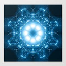 Blue Moon Mandala Canvas Print