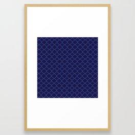 Blue Graphic Flower Framed Art Print