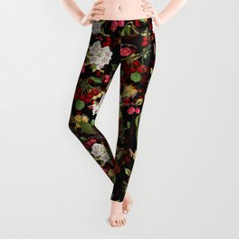 Cherries with Blossoms Leggings