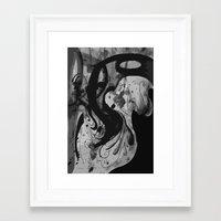 reassurance Framed Art Prints featuring Ink by Magdalena Hristova