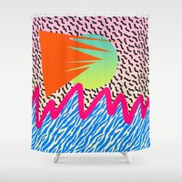 wave Shower Curtains featuring WAVE by DIVIDUS