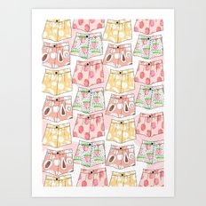 Fruity Pants Pattern Art Print