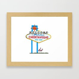 Welcome to Cheektavegas Framed Art Print