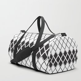 Rombs Black and white pattern Duffle Bag