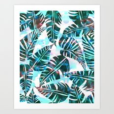 Lani Kai Leaf Green Art Print
