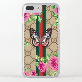 Guci Butterfly Clear iPhone Case