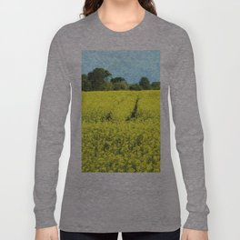 Rape Seed Field watercolour Long Sleeve T-shirt