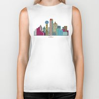 dallas Biker Tanks featuring Dallas city  by bri.buckley