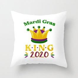 Mardi Gras King Street Party Carnival Gift Throw Pillow