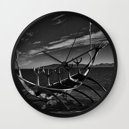 Sun Voyager B&W Wall Clock
