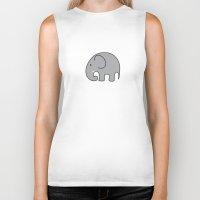 baby elephant Biker Tanks featuring BABY ELEPHANT  by EYE ECHO