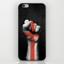 English Flag on a Raised Clenched Fist iPhone Skin