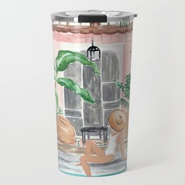 Moroccan Dream - Blonde Hair (Other Hair & Skin Tones Available) Travel Mug