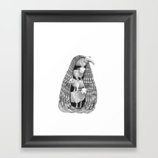 Stack of Sheep- Feathered Framed Art Print