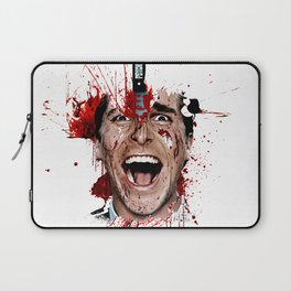 American Psycho Patrick Bateman serial killer digital artwork Laptop Sleeve