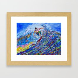 Wave Chaos Framed Art Print
