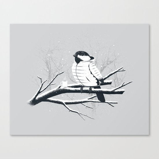 North For The Winter (Gray). Canvas Print