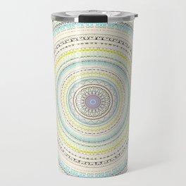 Soft Pastel Mandala Design Travel Mug