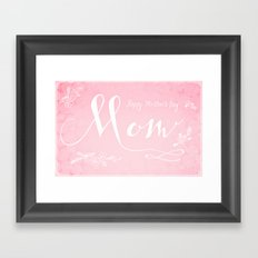 Mother's Day Card Framed Art Print