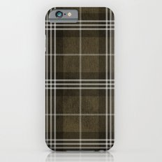 Grungy Brown Plaid iPhone 6s Slim Case
