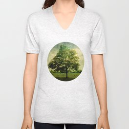 The Textured Tree  Unisex V-Neck