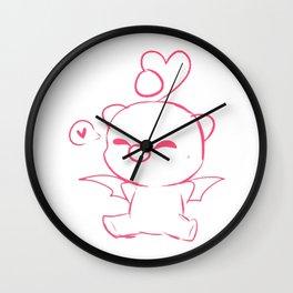 Chibi Moogle Love Wall Clock