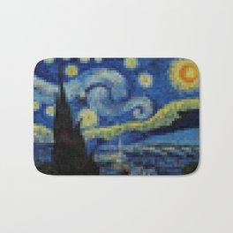Pixel Starry Night Bath Mat