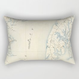 Vintage Annapolis MD & Chesapeake Bay Map (1902) Rectangular Pillow